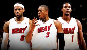 Big Three Miami. James, Wade and Bosh